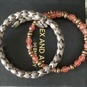 Two Alex and ani bracelets